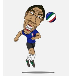Soccer player italy vector
