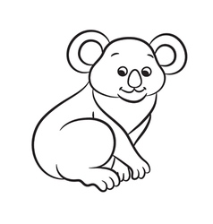 Koala black and white vector