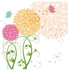 Springtime background vector