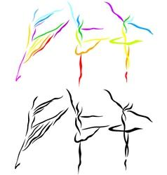Ballet line art vector