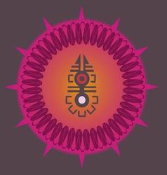 Indian ornamental sun poster vector