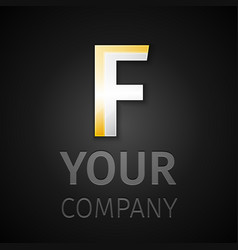 Abstract logo letter f vector