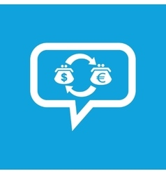 Dollar-euro exchange message icon vector