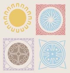 Indian spring elements collection vector