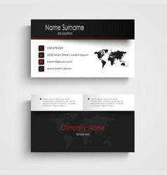 Modern black white business card template vector