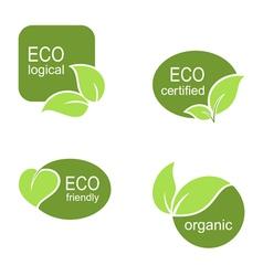 Ecological frames and labels set vector