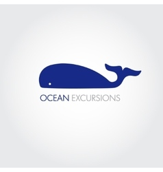 Image of a big whale whale logo for your vector