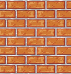 Orange brick wall background vector