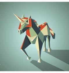 Three dimensional magic origami unicorn from vector