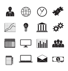 Business flat generic icons set vector