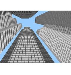 Skyscraper modern building vector