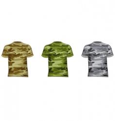 Military shirts vector