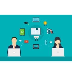 Concept of consulting services and e-learning vector