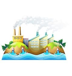 A city with factories vector