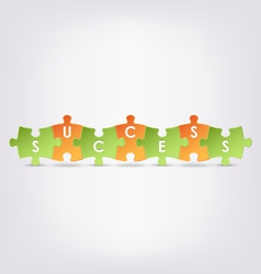 Abstract colored group puzzle success background vector