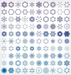 Set of winter snowflake icons vector