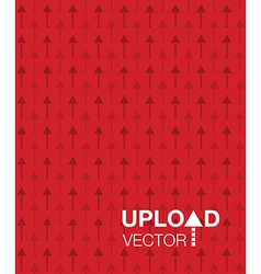 Red upload background vector
