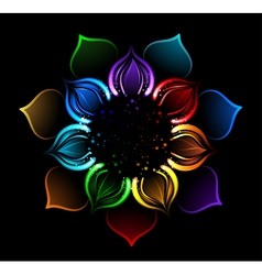 Rainbow lotus vector
