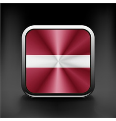 Latvia flag button icon country national vector