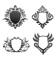 Shield-ornament-set vector