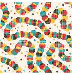 Seamless pattern with strange decoration vector