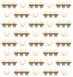 Egg pattern background vector