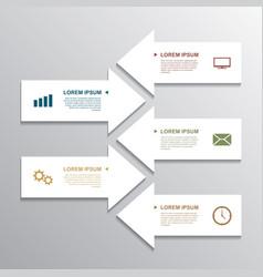 Paper arrow infographic vector