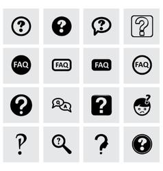 Faq icon set vector