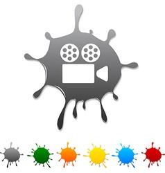 Cinema blot vector