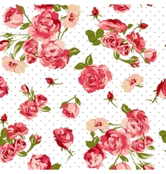 Beautiful seamless vintage background with roses vector