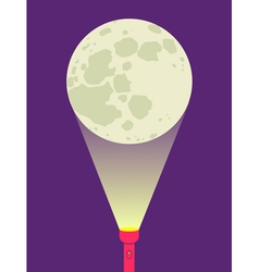 Flashlight moon vector