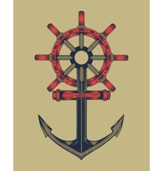 Anchor with handwheel vector