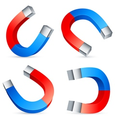 Horseshoe magnets vector