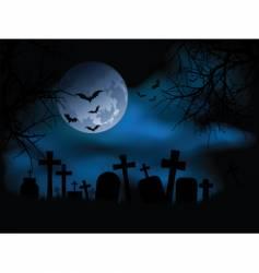 Spooky graveyard vector