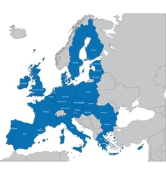 European union map vector
