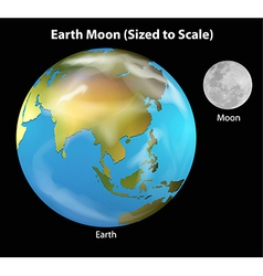 Earth and moon vector