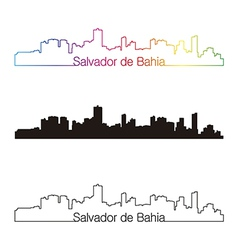 Salvador de bahia skyline linear style with vector