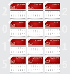 Simple 2015 year calendar vector