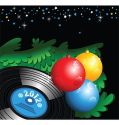 Christmas records vector