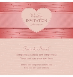 Modern wedding invitation pink vector