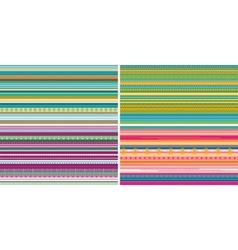 Set of seamless geometric striped patterns vector