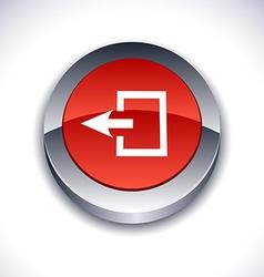 Exit 3d button vector