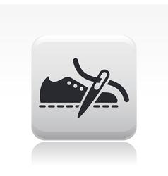 Shoe production icon vector