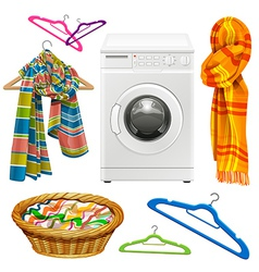 Laundry items vector