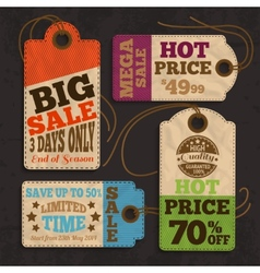 Shopping labels and tags collection vector