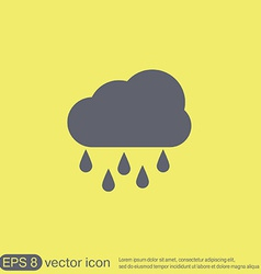 Weather icon cloud rain vector