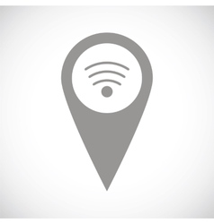 Wi-fi pointer black icon vector