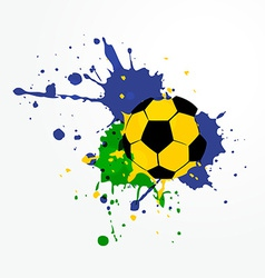 Grunge style soccer background vector