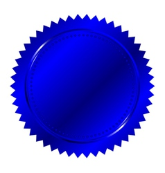 Of blue seal vector