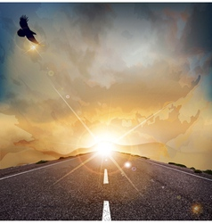 Eagle road background vector